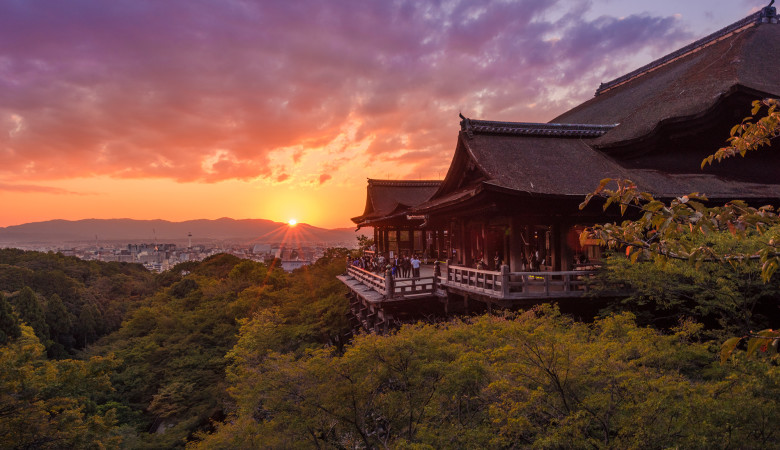 Kiyomizudera-Temple-Sunset-Wooden-Pavilion-Overlook copy