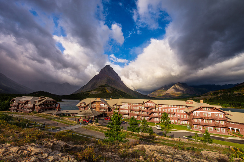 many-glacier-hotel-crazy-clouds