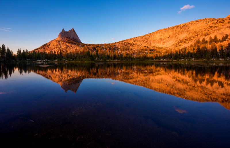 last-light-cathedral-peak-reflection-yosemite-national-park