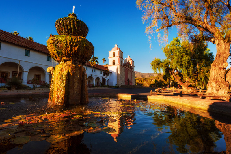 santa-barbara-old-mission-fountain-landscape