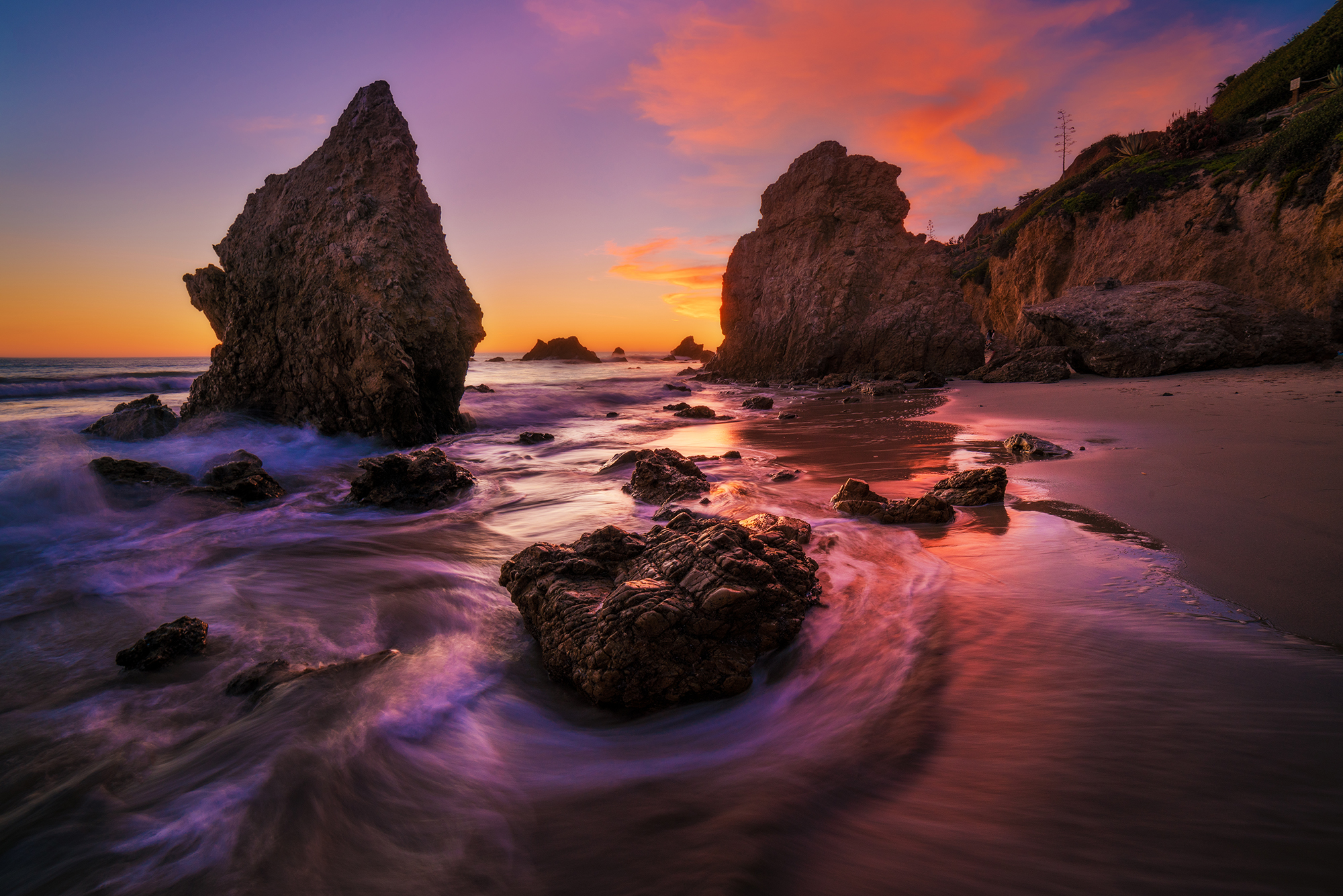El Matador Beach Sunset Malibu Waves Bricker Copy