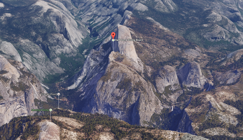 half-dome-diving-board-yosemite-map