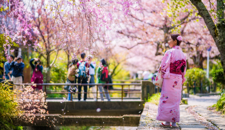 woman-path-philosophers-walk-cherry-blossom-sakura-season-kyoto-japan-bricker