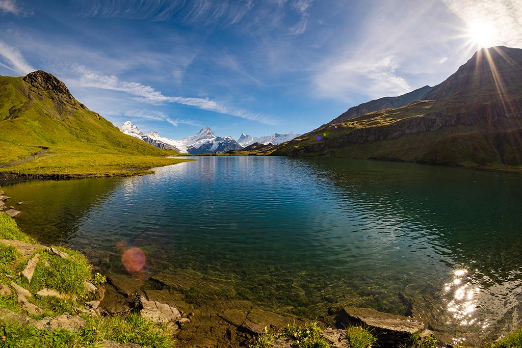 Hiking Switzerland Bachalpsee Lake Travel Caffeine