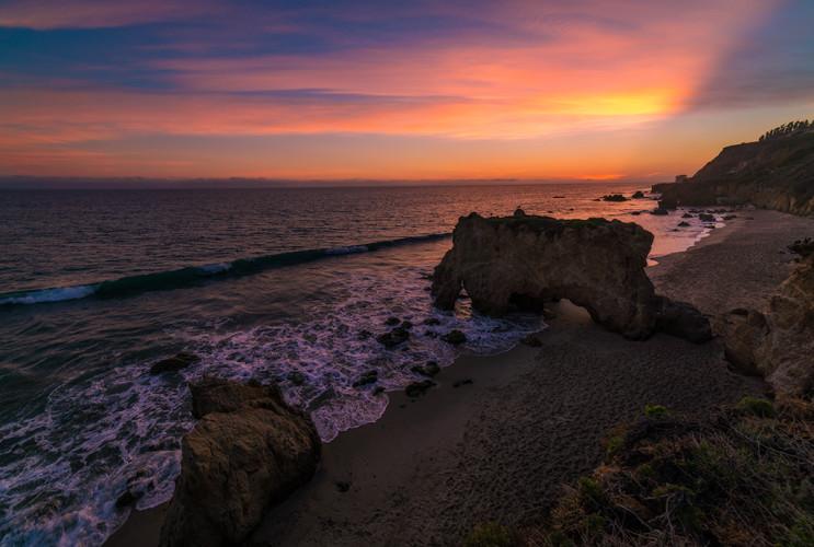 el-matador-state-beach-aerial-malibu-dusk