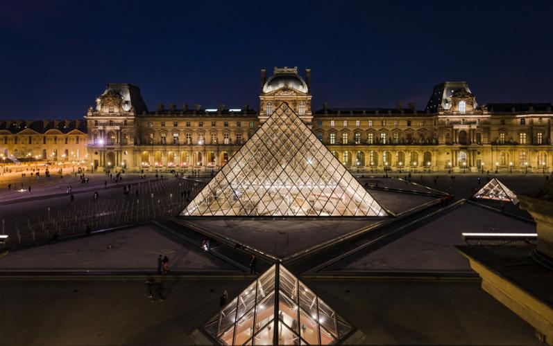 louvre-museum-dusk-aerial-paris-france