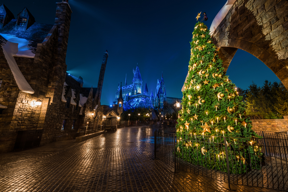 winter in wizarding world of harry potter is the other main draw for universal studios japan this holiday season since this isnt exclusively a christmas