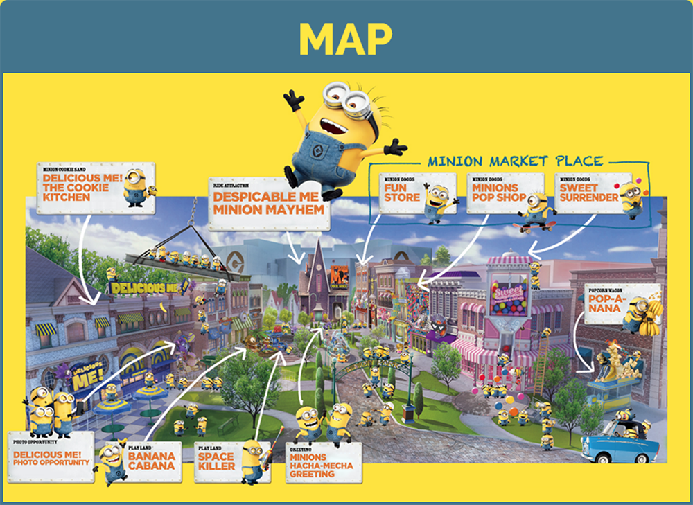 Universal Nintendo Theme Park Map